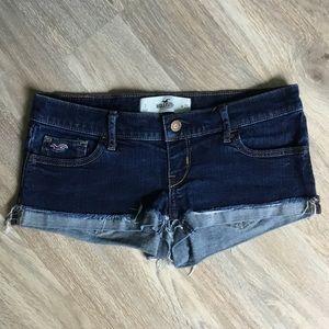 Hollister Denim Short Shorts✨Size 3 Juniors/ W 26